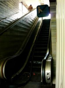Rolltreppe in Prag