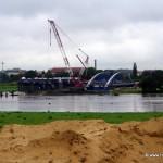 Bauarbeiten Waldschlösschenbrücke